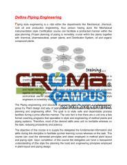 Piping Engineering Training in Noida - Croma Campus.pdf