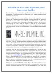 White Marble Store – For High Quality And Impressive Marbles.doc