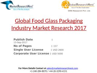 Global Food Glass Packaging Industry Market Research 2017.pptx