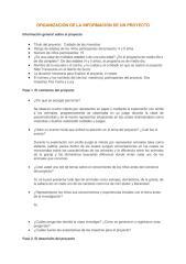 ORGANIZACIÓN DE LA INFORMACIÓN DE UN PROYECTO.doc