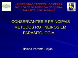 CONSERVANTES E MÉTODOS ROTINEIROS.ppt