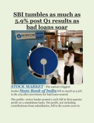 SBI tumbles as much as 5.9% post Q1 results as bad loans soar.pdf