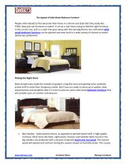 The Appeal of Solid Wood Bedroom Furniture.PDF