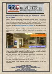 Right Strategies Of Looking For The Best Immigration Lawyers In Los Angeles.pdf