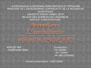Arata Isozaki 01.ppt