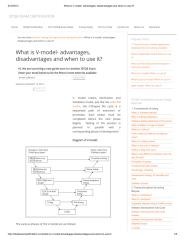 What is V-model- advantages, disadvantages and when to use it_.pdf
