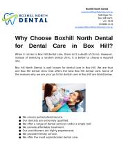 Why Choose Boxhill North Dental for Dental Care in Box Hill (1).docx