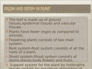 ORGAN AND SYSTEM IN PLANT (G6).ppt