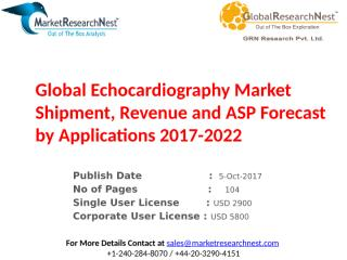 Global Echocardiography Market Shipment, Revenue and ASP Forecast by Applications 2017-2022.pptx