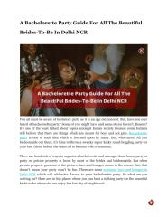 A Bachelorette Party Guide For All The Beautiful Brides-To-Be In Delhi NCR.pdf