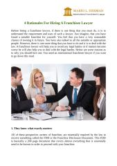 4 Rationales For Hiring A Franchisee Lawyer.docx