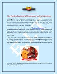 Fire Fighting Equipment Maintenance and Its Importance.pdf
