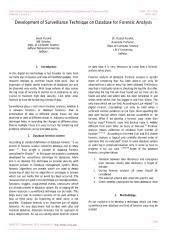 Development of Surveillance Technique on Database for Forensic Analysis.pdf
